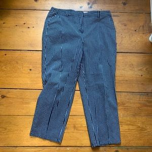 Blue and white stripped Talbots pants